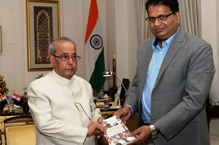 President Receives My Book